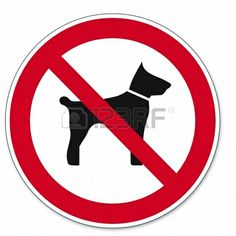 Prohibition signs BGV icon pictogram Carrying animals dog cat Stock Photo - 14460980