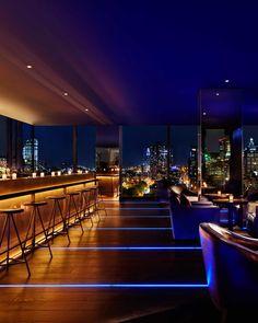Pub Design, Lounge Design, Terrace Restaurant, Restaurant Design, New York Rooftop Bar, Hookah Lounge Decor, Two Story House Design, Rooftop Terrace Design, Nightclub Design