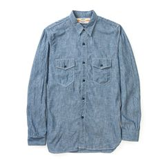 The Real McCoy's U.S.N Chambray Shirt L/S MS17003-121