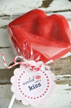 sealed with a kiss - could be used with Hershey's Kisses. Also a free printable for Peppermint Patties.