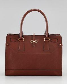 e571387bd3 Briana Leather Tote Bag by Salvatore Ferragamo at Neiman Marcus.
