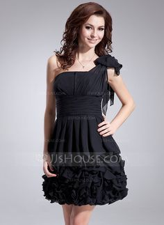 Homecoming+Dresses+-+$129.99+-+A-Line/Princess+One-Shoulder+Short/Mini+Chiffon+Homecoming+Dress+With+Ruffle+Bow(s)+(022011340)+http://jjshouse.com/A-Line-Princess-One-Shoulder-Short-Mini-Chiffon-Homecoming-Dress-With-Ruffle-Bow-S-022011340-g11340