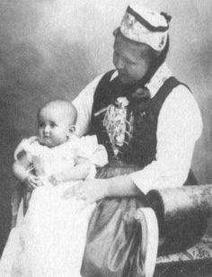 Princess Antonia of Luxembourg as a baby.  Don't know if the woman with her is a nanny or a relative.
