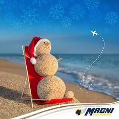 Aléjate del frío y vete a la #playa.