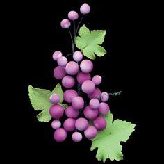 Grape Clusters (Gumpaste)-Burgundy Filler Flowers & Leaves