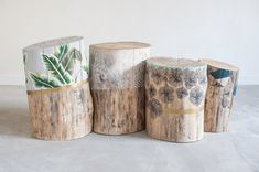 How tо Make а Tree Stump Table Log Furniture, Painted Furniture, Tree Stump Table, Wood Stumps, Painted Driftwood, Deco Nature, Wood Store, Diy Holz, Creative Decor