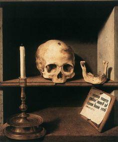 Barthel Bruyn (1493-1555). Vanitas Still Life. Rijksmuseum Kroller-Muller (Otterlo, Netherlands).
