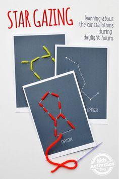 Tarjetas para coser constelaciones #juegos #imprimibles #diy #unamamanovata ▲▲▲ www.unamamanovata.com ▲▲▲