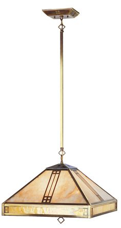 Livex Lighting Mission Tiffany Collection (4245) Tiffany/Stained Glass Style 4 Light Chandelier shown in Flemish Brass with Iridescent Tiffany Glass