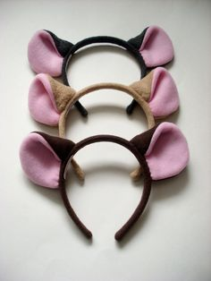 Mouse Ears Headband.  Wow, this and a little tail: what an easy costume!