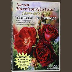 """DVD: """"Painting Watercolor My Way"""" 2 Disc-DVD-Set – over 5 hours of invaluable instruction  BUY 3 OR MORE OF SUSAN'S DVDs AND GET FREE SHIPPING  Look over Susan's shoulder as she explains in full detail everything she is doing and why. Susan holds nothing back in teaching you the magic behind her multi-layered transparent watercolor techniques.  YOU HAVE TWO OPTIONS  1. Downloadable/streaming version Click here to buy the streaming/downloadable version (Find out more info in the ..."""