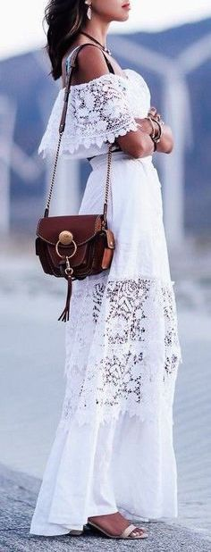 #summer #outfits / lace dress
