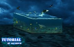 Photoshop tutorial My aquarium - Manipulation