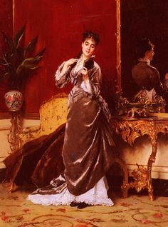 GUSTAVE LÉONHARD DE JONGHE (I love velvet in paintings)