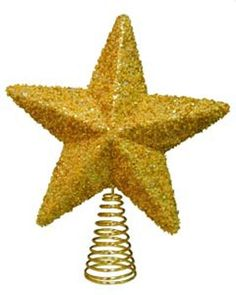Irridescent Gold Star Christmas Tree Toppers 5116228 -- You can find out more details at the link of the image.