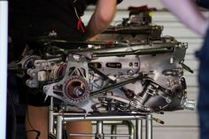 Lotus E20 transmission Formula 1 Pitlane walk GP F1 2012 Spain Circuit ...