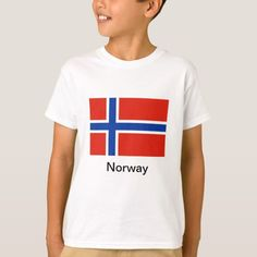 Shop Flag of Norway T-Shirt created by flagit. Norwegian Flag, Norway Flag, International Flags, T Shirt World, Flags Of The World, Kids Outfits, Mens Tops, Shirts, Shopping