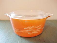 Vintage Pyrex Casserole with Lid Orange by WintervilleWonders, $15.00