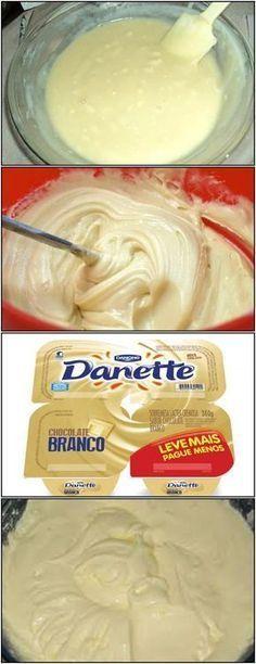 GENTE DANETE BRANCO PENSA EM UMA RECEITA DELICIOSA!! veja AQUI>>>Dissolva o açúcar, o sal e a baunilha no leite e deixe ferver um pouco #receita#bolo#torta#doce#sobremesa#aniversario#pudim#mousse#pave#Cheesecake#chocolate#confeitaria