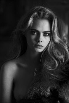 Peter Lindbergh does what he does best in this personal and intimate shoot with the insanely beautiful model Cara Delevingne. Model – C. Peter Lindbergh, Cara Delevingne, Most Beautiful, Beautiful Women, The Libertines, Christy Turlington, Black And White Portraits, Naomi Campbell, Female Portrait