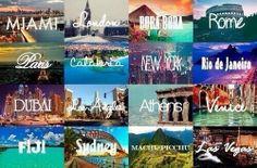 I wanna travel the world