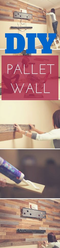 Simple DIY Pallet Wall gives a rustic look to any room. Super cheap and very easy DIY project. Instructions here: http://www.thesawguy.com/diy-pallet-feature-wall/