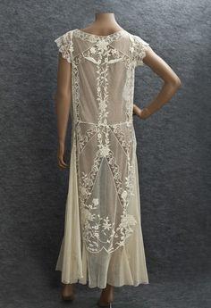 1922 Clothing at Vintage Textile: #2784 lace tea dress