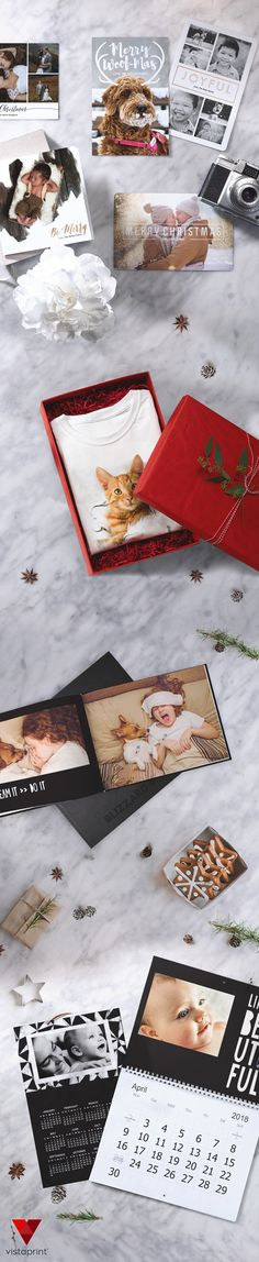 It's easy to turn favorite snapshots into great holiday gifts. Vistaprint's custom photo products – mugs, wall calendars, Christmas cards and more – lets you create for each person on your list. Plus, when you order today, you'll get 25% off.