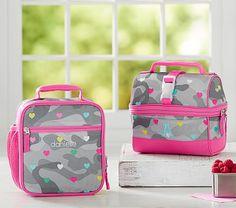 Mackenzie Gray Camo Heart Lunch Bag #pbkids
