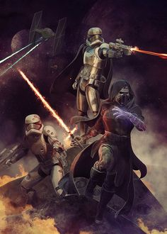 Star Wars the Force Awakens par Björn Barends