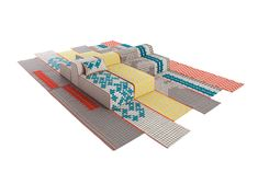 Chunky stitches pattern Bandas rugs and furniture by Patricia Urquiola.