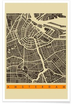 Amsterdam II as Premium Poster by Jazzberry Blue | JUNIQE