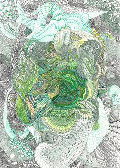 "Angelika Arendt ""o.T."" Tusche, Aquarell auf Papier 2012"
