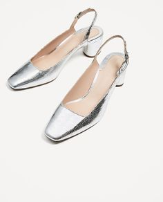 Image 4 of SILVER SLINGBACK COURT SHOES from Zara