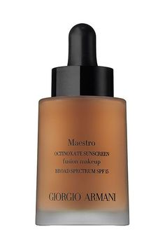 Giorgio Armani's Maestro Foundation is popular among editors and bloggers alike for good reason: It's ridiculously lightweight, covers minor imperfections, and has a gorgeous, smooth satin finish. Giorgio Armani Maestro Fusion Makeup, $64, available at Nordstrom. #refinery29 http://www.refinery29.com/tarte-water-foundation-best-sellers#slide-6