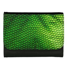 Green Snake Scales Leather Wallet Purse - accessories accessory gift idea stylish unique custom