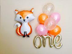Fox 1st Birthday Party Fox Balloon Baby 1st Birthday