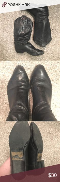 Vintage Italian Slouchy Western Cowboy Boots Brand is Bandolino These boots are so well loved which is why they are so discounted. They are not perfect so please look at pictures and let me know if you have any questions. Bandolino Shoes Heeled Boots