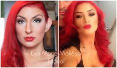 WWE & Total Divas Eva Marie Tutorial Wwe Total Divas, Nxt Divas, Eva Marie, Hair Hacks, Hair Tips, Makeup Inspiration, Superstar, Color Pop, Makeup Looks