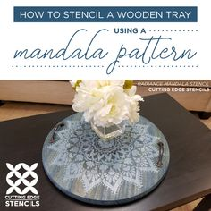 Use Stencil Designs To Craft A DIY Wooden Tray Good morning, my Cutting Edge Stencils friends. Serve guests better with our unique DIY serving tray. Friends and family will love your stylish and handmade serving tray. Today we're sharing a stencil tutorial showing how easy it is to craft a t