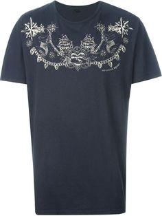 ALEXANDER MCQUEEN Tattoo Print T-Shirt. #alexandermcqueen #cloth #t-shirt