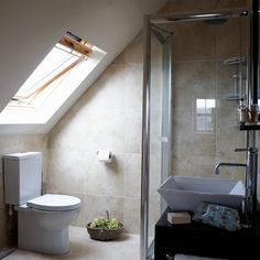 Our bedroom's in the attic - maybe we could just squeeze in an en-suite?