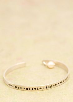 Sterling Silver Cuff - Customize your Bracelet with a special name, #Personalizedgifts