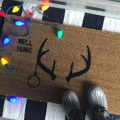 Oh DEER… This custom order is hilarious 😂😂😂I'm amazed at what people can come up with! 🙈🐺 🎄🎄🎄🎄🎄🎄🎄🎄🎄🎄🎄🎄🎄🎄Shop link in bio for your custom doormat 📱 Insta Followers, Oh Deer, Doormat, Hilarious, Photo And Video, Link, People, Shop, Instagram