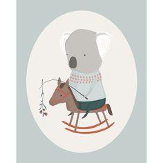 Koala and Pony Art Print