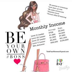 Be your own Boss! You will not regret it!!! Opportunity of a life time!!! PM me for more info and to join our team!!! Rodan+Fields