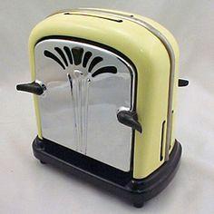 Lemon Yellow & Chrome / Vintage Toaster http://www.toastercentral.com/220volt.htm