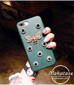ラインストーン 蜂 iphoneケース 韓国風 iphone7 iphone7plusケース 個性的アイフォン7sケース キラキラ iphone7s plusケース 女性ファッション iphone6s plusケース