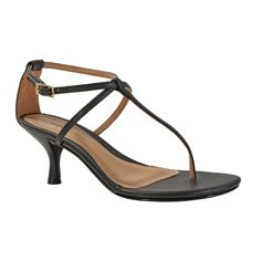 Sandália com Tiras Finas e Salto Médio