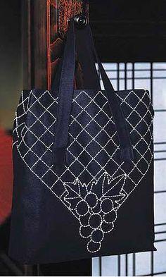 オリムパス 刺し子キット ショッピングバッグ(紺)